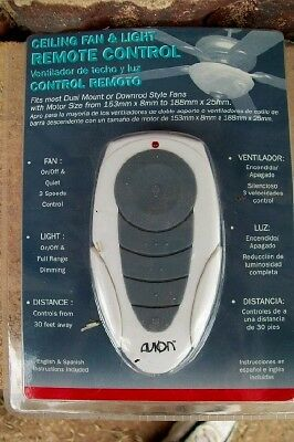 Universal ceiling fan light remote control avion 3 speed dimming new aloadofball Choice Image