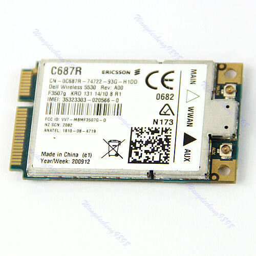 Unlocked-Dell-5530-Eircsson-F3507G-GPS-HSDPA-WWAN-3G-MINI-PCI-E-Wireless-Card