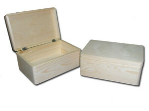 Unpainted-Wooden-Storage-Box-Large-Chest-with-Lid-Toy-Box-Large-Trunk ...