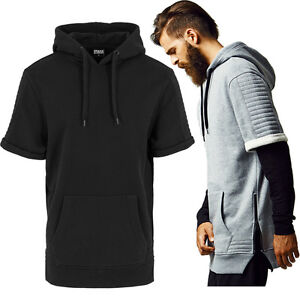 urban classics herren sweatshirt kurzarm pullover oversize biker hoodie tb1108. Black Bedroom Furniture Sets. Home Design Ideas
