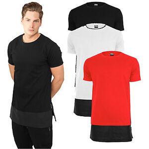 herren t shirt extra lang long shirt tee oversize leder t tb818 ebay. Black Bedroom Furniture Sets. Home Design Ideas