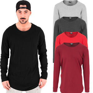 urban classics herren longsleeve shirt extra lang long shirt oversize t pullover ebay. Black Bedroom Furniture Sets. Home Design Ideas