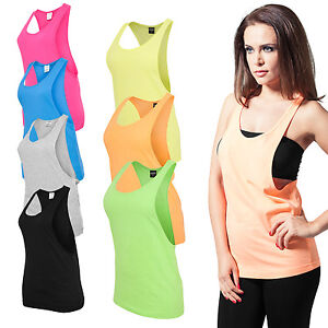 Urban-Classics-Ladies-Loose-Tank-Top-Sommer-Shirt-Sport-Fitness-Damen-neon