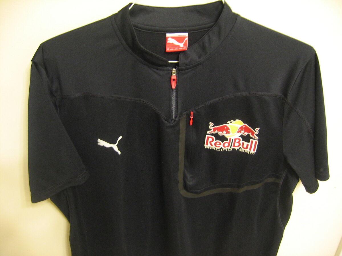 Used 2XL Team Red Bull Racing Puma Pit Crew Shirt Nascar BMX XGames MX