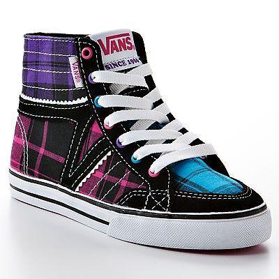 Vans Corrie Hi Top Girls Skate Shoes Keds Size 11 12 13 1 2 3 4 on ... 74b998076