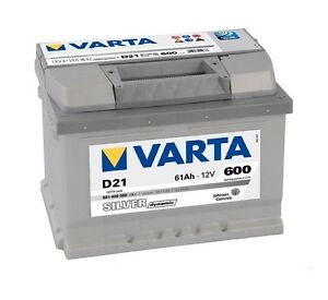 varta d21 silver 61ah toyota yaris petrol car battery ebay. Black Bedroom Furniture Sets. Home Design Ideas