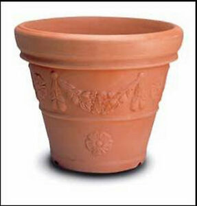 Vaso campana decorata cm 70 in resina vasi da giardino no for Vaso in resina