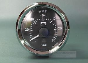 VDO-AMPEREMETER-30A-INSTRUMENT-GAUGE-LED-AMMETER-VIEWLINE-Chromring