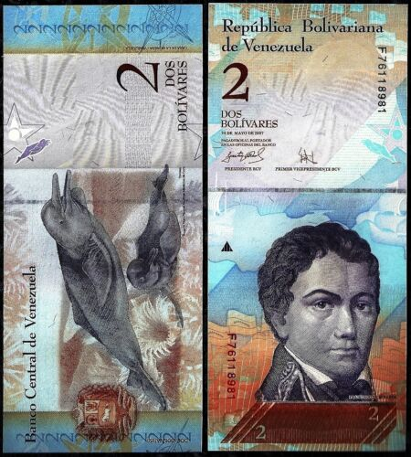 VENEZUELA 2 BOLIVARES FOREIGN PAPER MONEY BANKNOTE WORLD CURRENCY in Coins & Paper Money, Paper Money: World, Collections, Lots | eBay