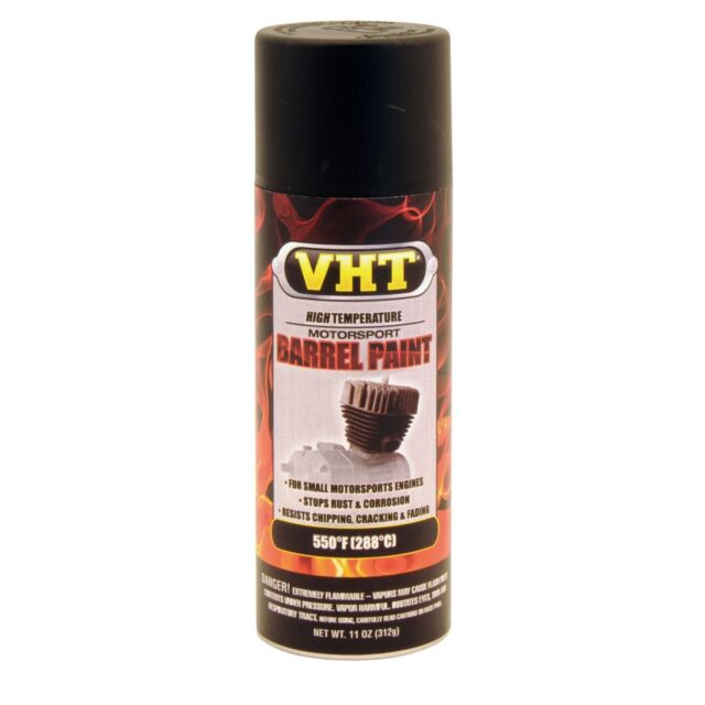 vht satin black motorcycle barrel spray paint aerosol 310ml for your. Black Bedroom Furniture Sets. Home Design Ideas