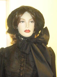 VICTORIAN-EDWARDIAN-CIVIL-WAR-The-Woman-in-Black-STYLE-BONNET