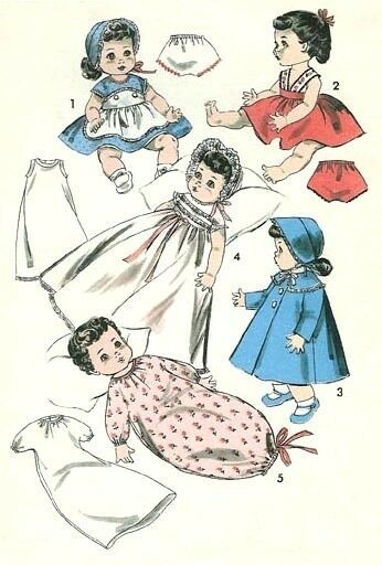 Vintage 8 5 Ginnette Baby Doll Clothes Pattern 8454