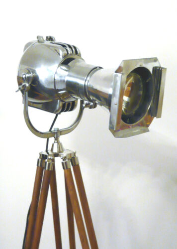 VINTAGE FILM LAMP INDUSTRIAL ANTIQUE FLOOR LOFT LIGHT ART DECO MACHINE AGE RETRO in Antiques, Antique Furniture, Lamps | eBay