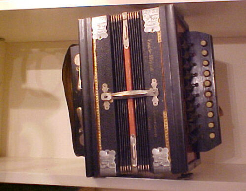 "VINTAGE GERMAN ""EAGLE BELL""METAL REEDS CONCERTINA-EXCELLENT CONDITION in Musical Instruments & Gear, Accordion & Concertina 