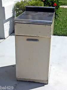 Vintage kitchen cabinet murray co metal 1950s art deco ebay for 50s metal kitchen cabinets