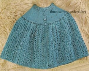 KNITTING PATTERN FOR A BED CAPE / BED JACKET / SHOULDER WRAP / SHAWL