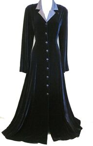 VINTAGE-LAURA-ASHLEY-RIDING-COAT-VELVET-SILK-DRESS-VICTORIAN-30s-VAMP-EDWARDIAN