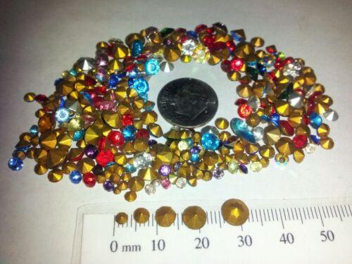 VINTAGE LOT OF RHINESTONES CRAFTERS REPAIR LOOSE 50, 200 OR 500 COUNT LOTS in Jewelry & Watches, Loose Beads, Rhinestones | eBay