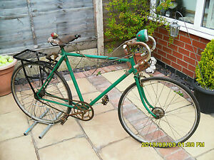Vintage Raleigh Racing Bike 21 Quot Brooks Seat Spares Or