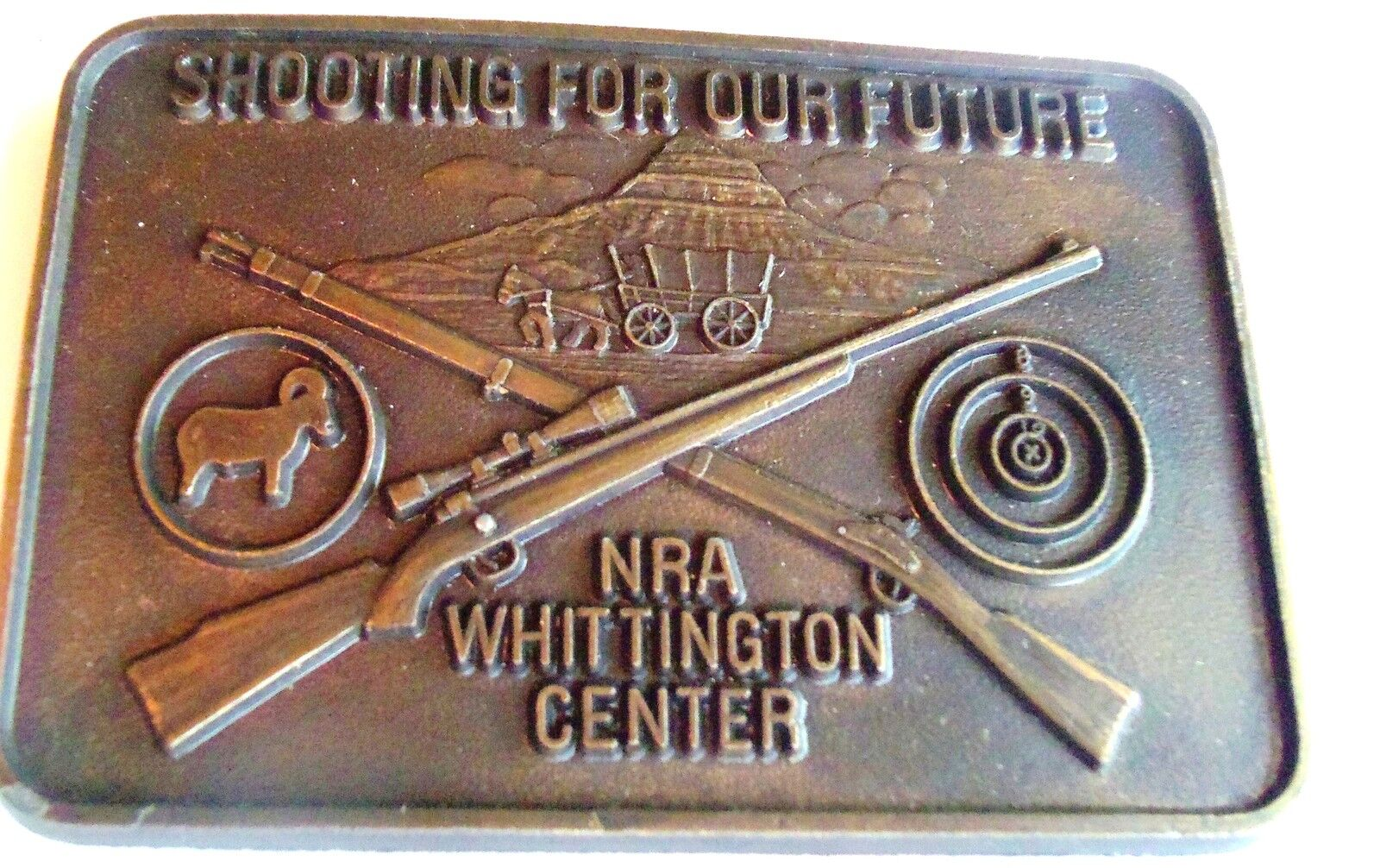 Vintage Belt Buckle NRA Member