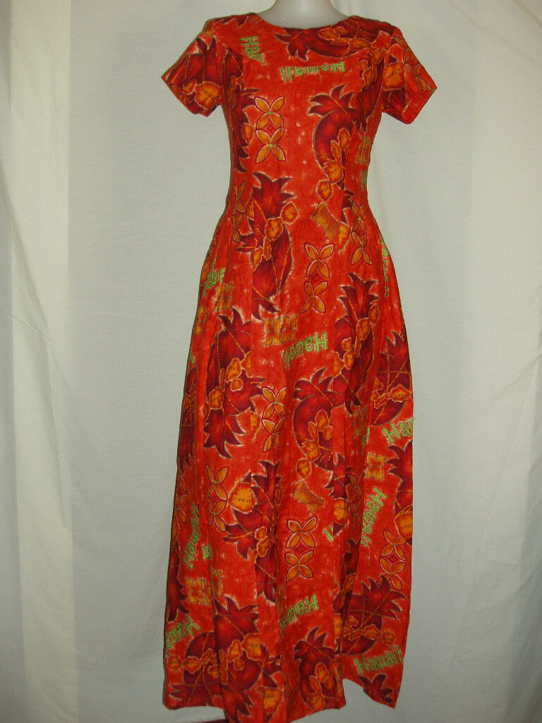 fa74db8be2ae VINTAGE UI MAIKAI HAWAIIAN HOLOMUU MAXI DRESS ISLANDS on PopScreen