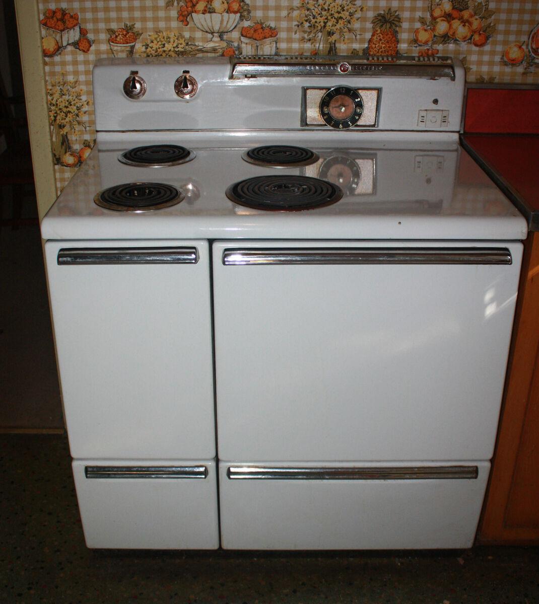 Mid Century Modern Oven ~ Vintage white stove mid century modern s ge oven