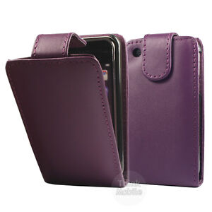 VIOLETT-PU-LEDER-SCHUTZ-HULLE-TASCHE-FLIP-CASE-FUR-APPLE-iPHONE-3G-3Gs