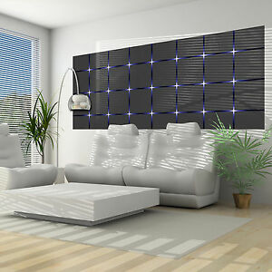 vlies fototapete fototapeten tapeten tapete quadrate blau. Black Bedroom Furniture Sets. Home Design Ideas