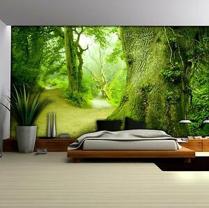 vlies fototapete fototapeten tapeten poster wald natur gr n baum 14n290vexxl ebay. Black Bedroom Furniture Sets. Home Design Ideas