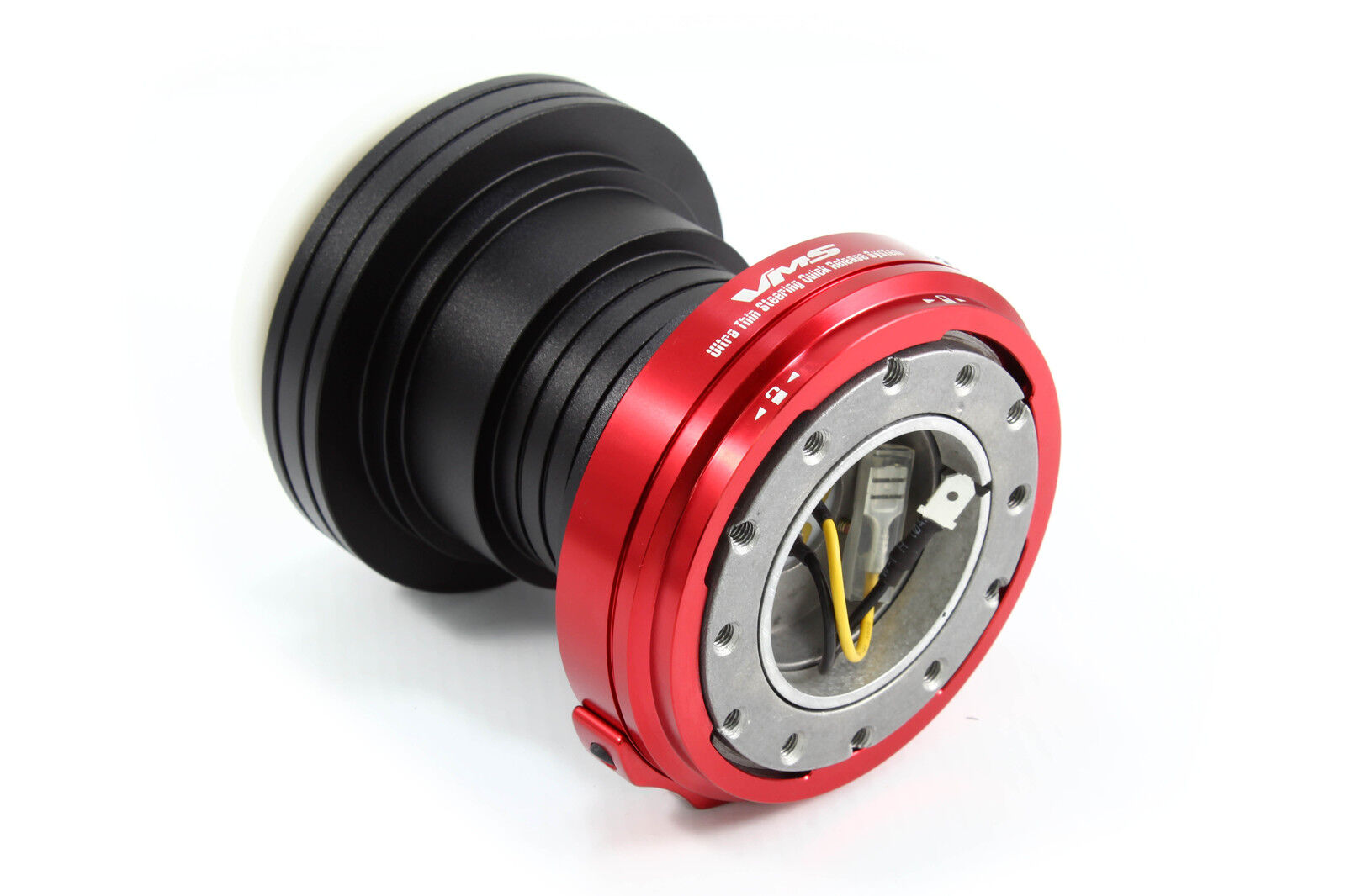 VMS Racing 92 95 Honda Civic Steering Wheel Hub Red Quick Release Combo Black