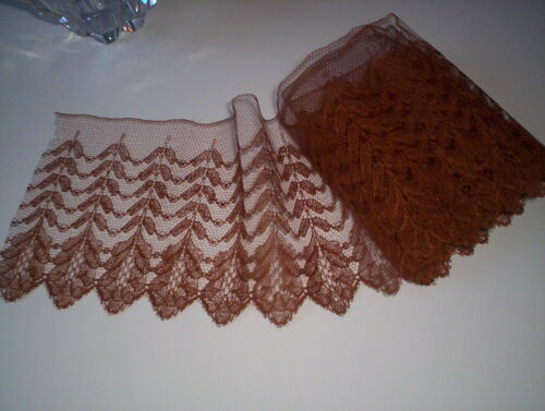 VTG ANTIQUE FERN DESIGN SILK TULLE NET LACE SCALLOPED EDGE TRIM FRANCE in Antiques, Linens & Textiles (Pre-1930), Lace, Crochet & Doilies | eBay