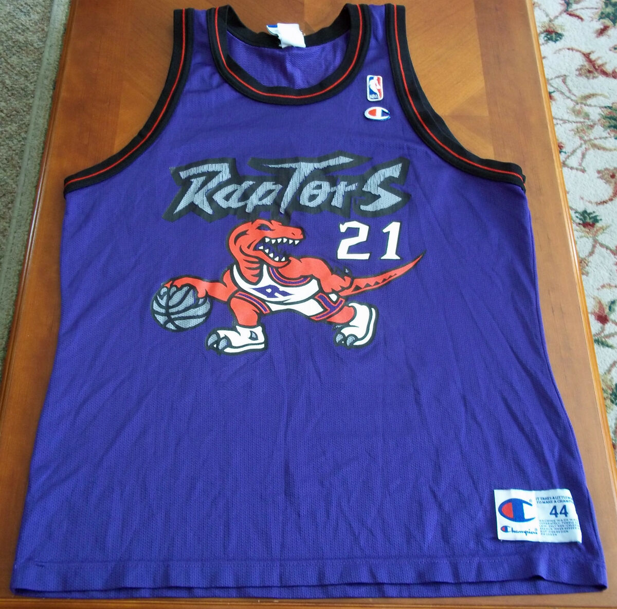 VTG RARE Dino Marcus Camby Raptors Champion NBA Jersey 44 Knicks