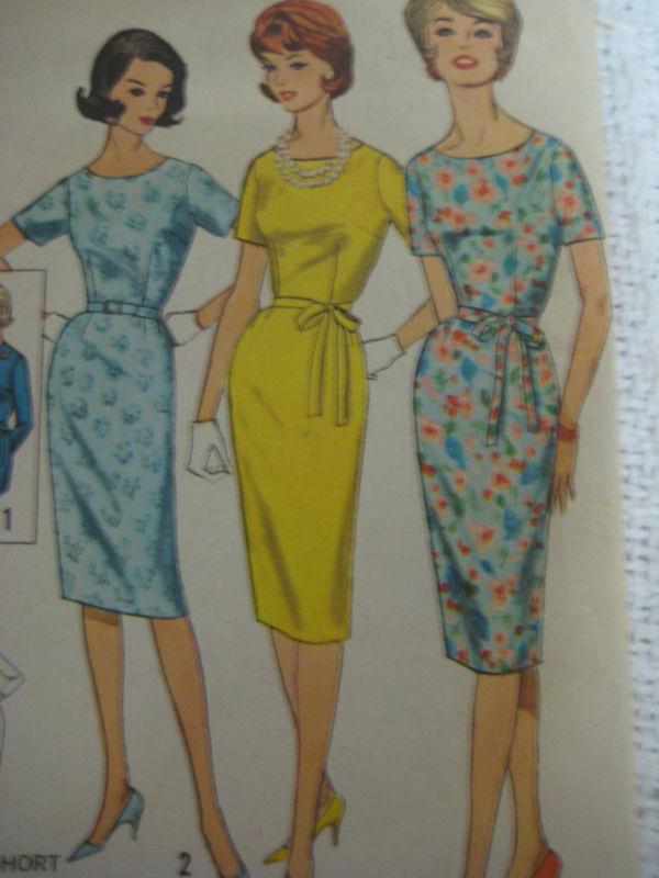 VTG Simplicity 4252 Women SLIM BELTED DRESS Sew Pattern