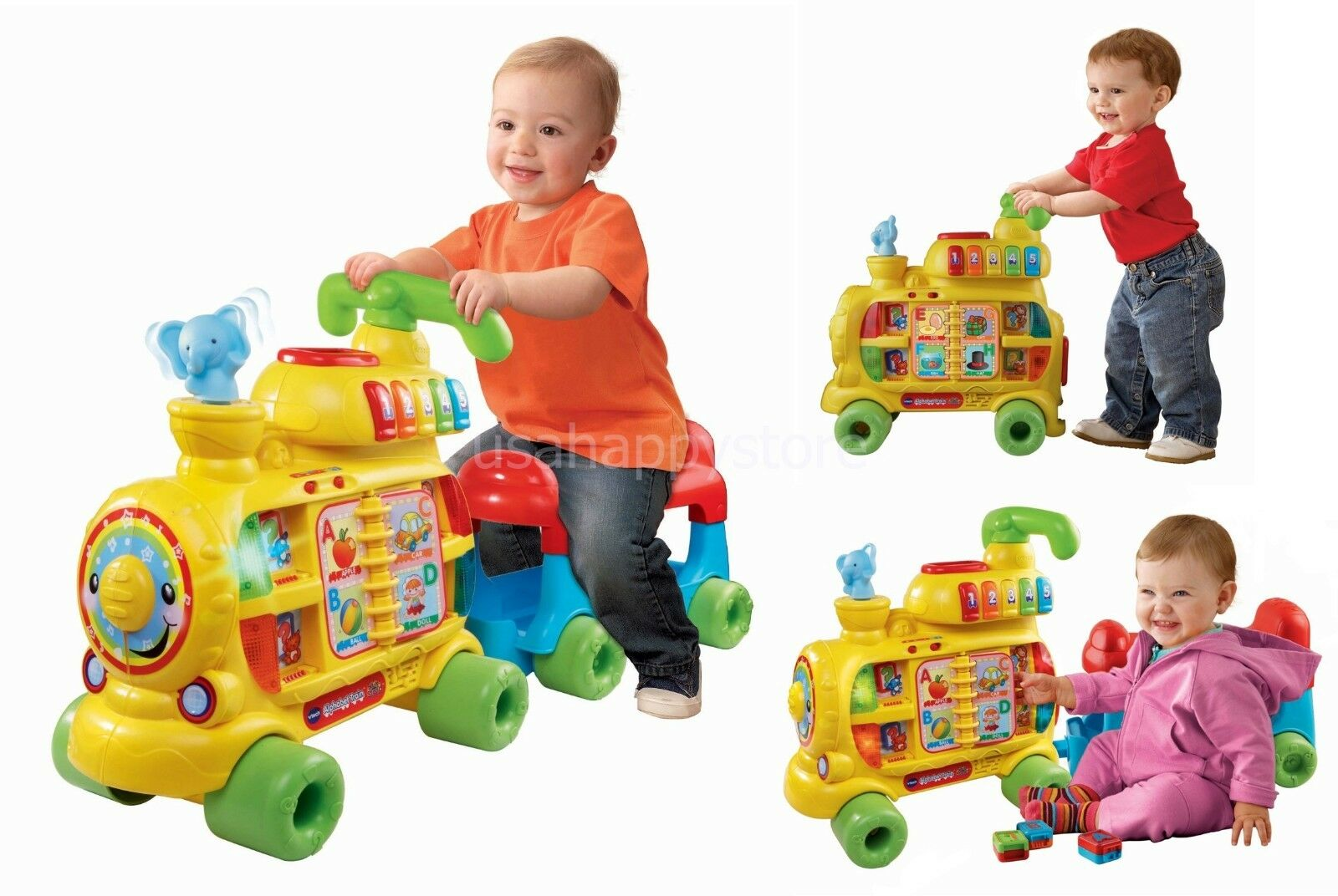 Alphabet Learning Toys : Vtech alphabet train kids toddler ride on interactive learning