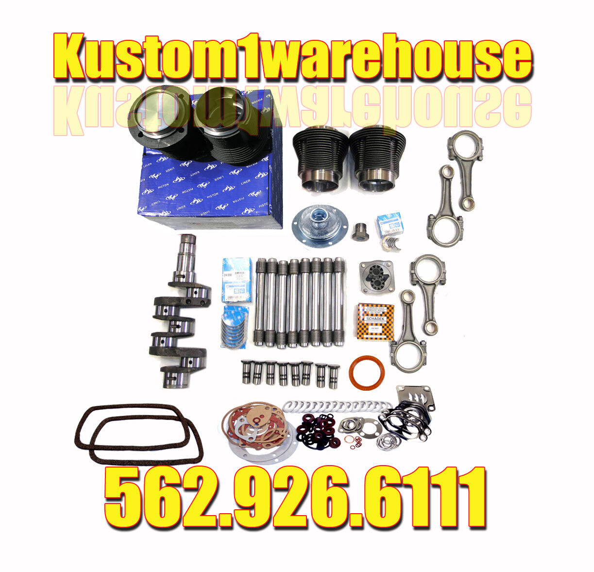 VW 1835cc Air-Cooled Engine Kit for Sale