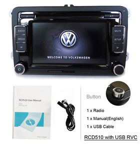 VW-Autoradio-RCD510-USB-RVC-CD-AUX-Handbuch-Kabel-PASSAT-GOLF-TIGUAN-TOURAN-EOS