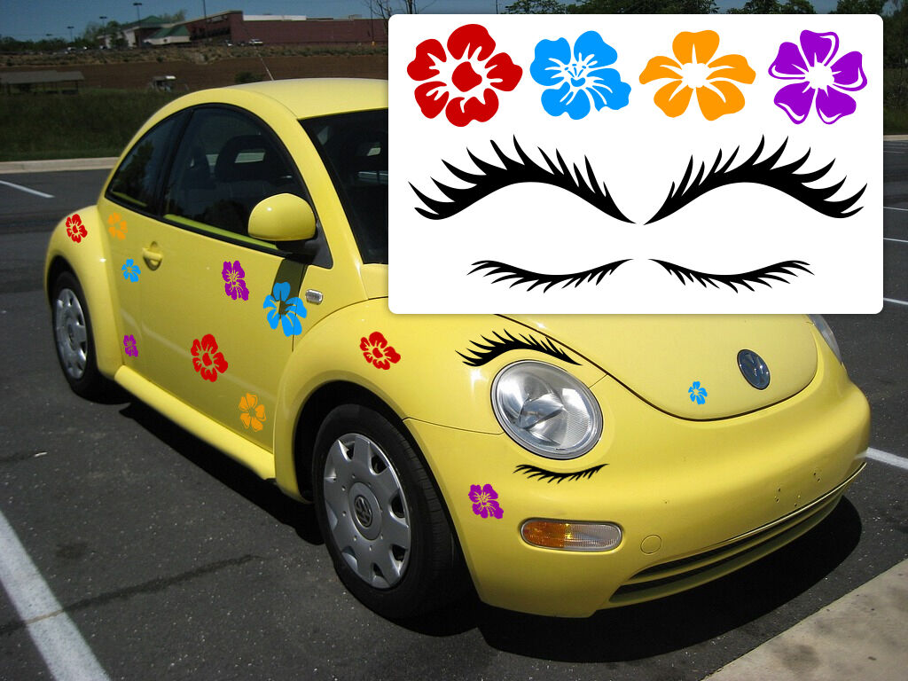 VW Beetle Eyelashes, Eyelashes for Beetle, Punch buggy Eyelashes, Punch bug | eBay