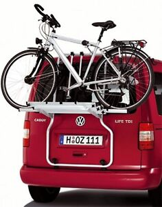 vw caddy fahrradtr ger f r die heckklappe hecktr ger f r 3 fahrr der 2k0071104a ebay. Black Bedroom Furniture Sets. Home Design Ideas