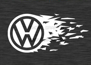 Vw Emblem Tear Decal Sticker Jetta Gti Golf R32 Polo Vw