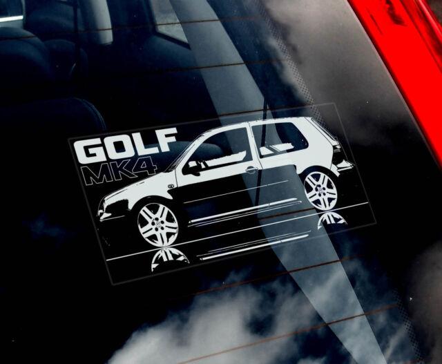vw golf mk4 car window sticker 1999 06 volkswagen. Black Bedroom Furniture Sets. Home Design Ideas