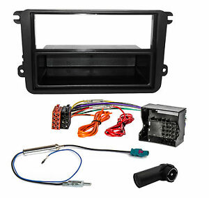 vw polo 6r passat b7 cc autoradio radio blende adapter. Black Bedroom Furniture Sets. Home Design Ideas