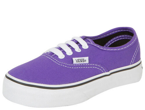 Vans Authentic Purple Passion Flower Black Skate Boys Girls Kids Youth