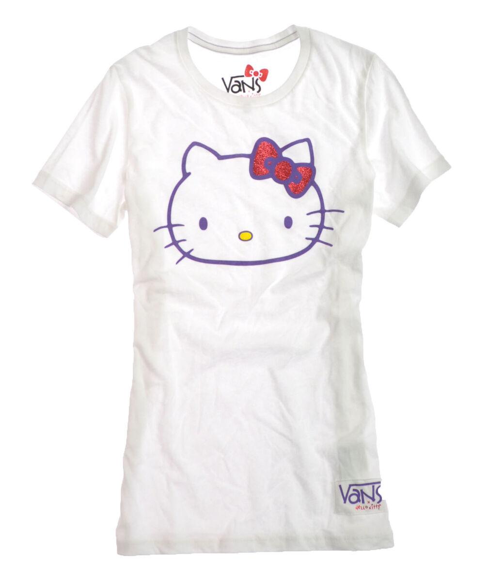 "Vans ""G Hello Kitty Passio"" Womens Crew Neck Tee T Shirt Style VN 0QXW6V5"
