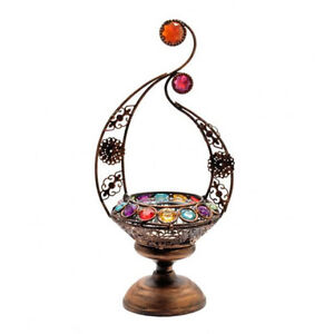 Various vintage chic hanging tealight holders metal t for Diy hanging tea light candle holders