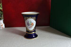 Vase-Tischvase-Trichtervase-von-Lindner-in-Kobalt-Hoehe-15-cm