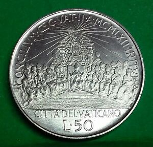 Vatikan-Vaticano-50-lire-1962-Concilio-Giovanni-XXIII-Rara