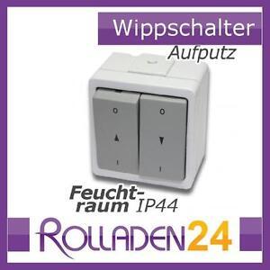 Vedder-Jalousieschalter-IP44-Aufputz-Rolladenschalter-Markise-Schalter