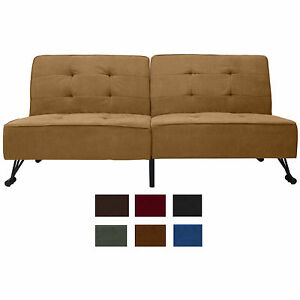 Vega Twin Convertible Futon Sofa Bed Set Choose Fabric Amp