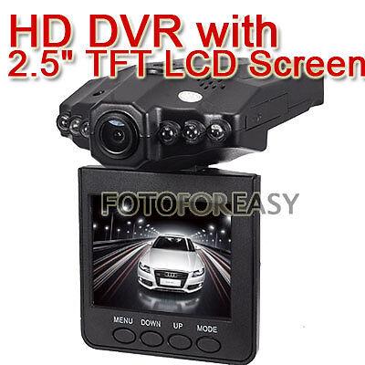 Vehicle Car DVR Recorder Camera Road Safety Guard 2.5 TFT LCD Screen