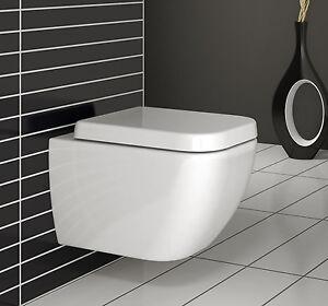 vera wand h nge wc toilette mit softclose sitz ebay. Black Bedroom Furniture Sets. Home Design Ideas